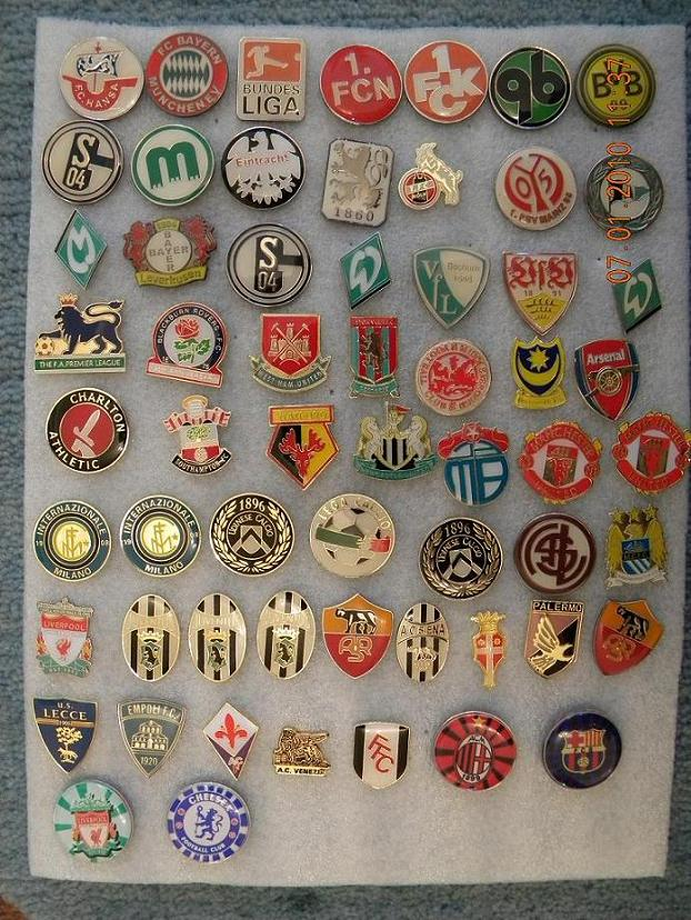 значки футбольных клубов: