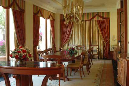 Dining room draperies