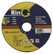 Круги абразивные отрезные и зачистные по металлам и камню RinG