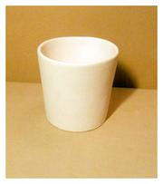 Горшок керамический белый №1