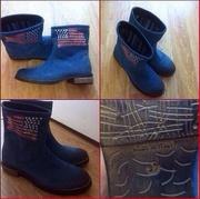 Итальянские ботинки с американским флагом .Тренд  года.Днепропетровск