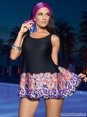 Утягивающий купальник платье для полных женщин WPBQ241405 Charmante