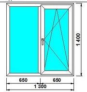 Окно SOFTLINE 70mm Veka 4-16-4 1300*1400