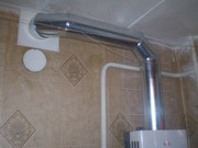 Дымоходные оцинкованные трубы для газовых колонок