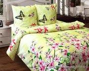 Качественное постельное белье,  Комплект Цветение сакуры