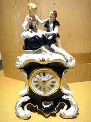 Настольные фарфоровые часы Royal Dux Bohemia