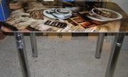 Акция: стеклянные столики с экологически чистой фотопечатью от 1697грн