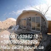 Недорогой дом за 110$ м.кв.,  строительство купольный домов