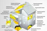 Утепление пенополиуретаном стен,  крыш,  чердаков,  полов.