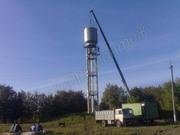 Водонапорные башни,  Изготовление водонапорных башен на стальных опорах