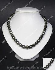 Ожерелье из черного морского жемчуга