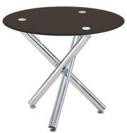 Стеклянный обеденный круглый стол Дезире,  прозрачное стекло. Уценка!