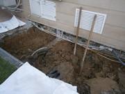Земляные работы(вручную),  траншеи,  сливные ямы.
