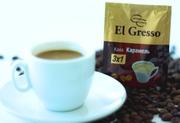 Растворимый кофе 3 в 1«Карамель»от ТМ «El Gresso»