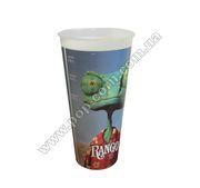 Стакан пластиковый для напитка «Rango» с крышкой,  V22 (0, 5л),  EU
