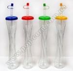 Стакан пластиковый для слаша с крышкой и трубочкой Style-1