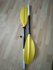 Двухсекционное весло для байдарок и каяков.