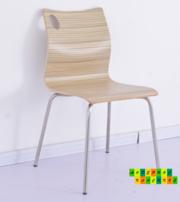 Стул деревянный Хорека-N,  гнутоклееная фанера,  цвет натуральный дуб