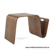Стол журнальный Нерея,  деревянный,  гнутая фанера,  цвет натуральных орех