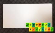 Столешница Родас,  прямоугольная,  толщина 25 мм,  120*60 см,  цвет белый