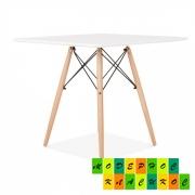Стол обеденный Квадро,  дерево,  квадратный,  цвет белый