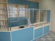 Аптечное торговое оборудование.Прилавки и шкафы для аптек.